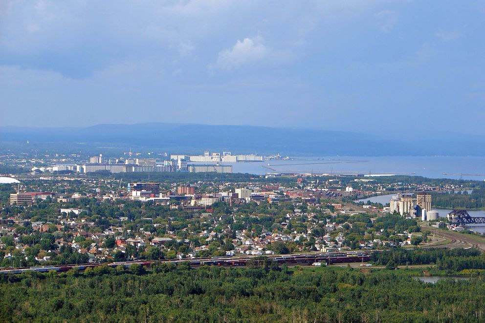 Thunder Bay (as seen from Mount McKay), Ontario, Canada. (Wikimedia Commons)