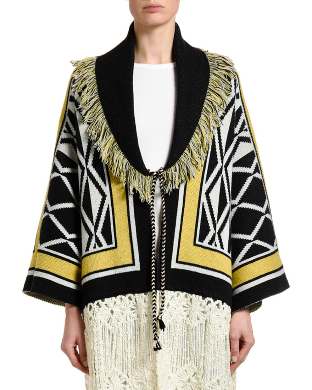 Alanui Ravenstail Knitted Coat (Neiman Marcus)