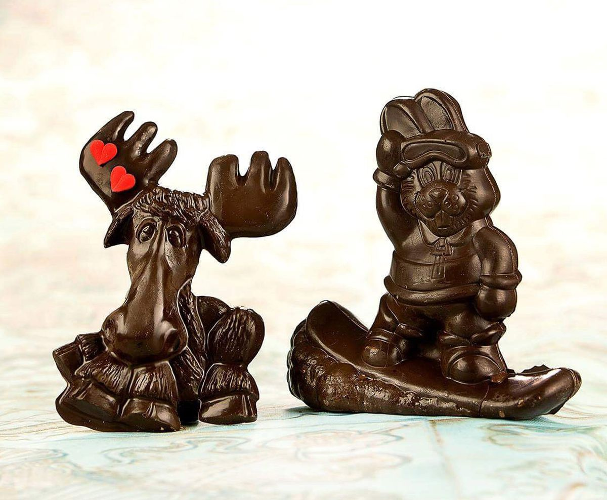 A chocolate moose and snowboarding rabbit at The Flying Dutchman in Anchorage (Photo courtesy Steve Edwards)