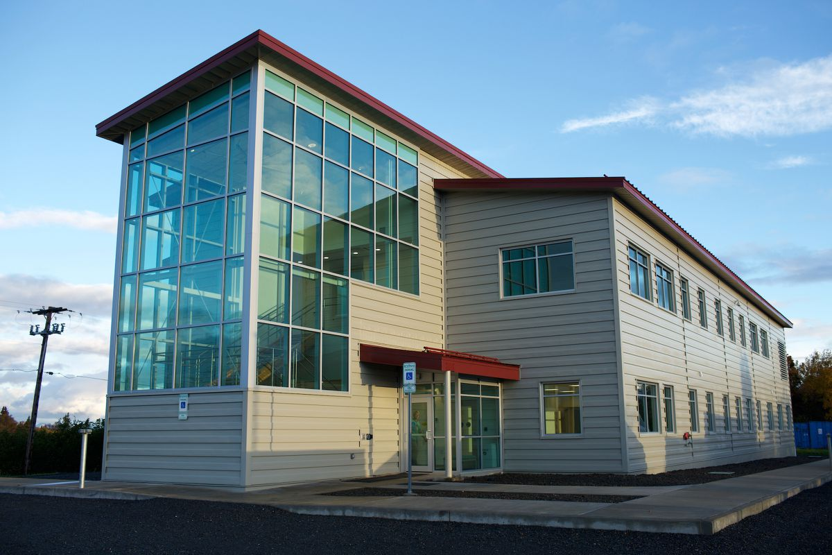 Bristol Bay Area Health Corp. unveiled its new dental health facility and administrative offices complex in Dillingham this week. (Photo by Brian Adams)