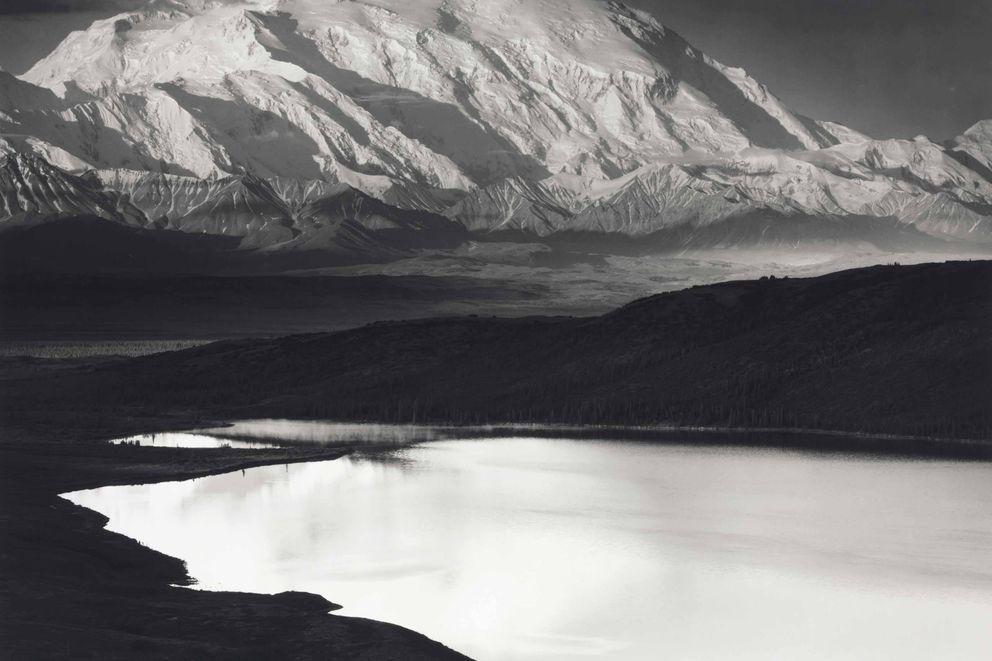 Ansel Adams' 1948 print of Denali and Wonder Lake in Alaska. (Ansel Adams via Christie's)