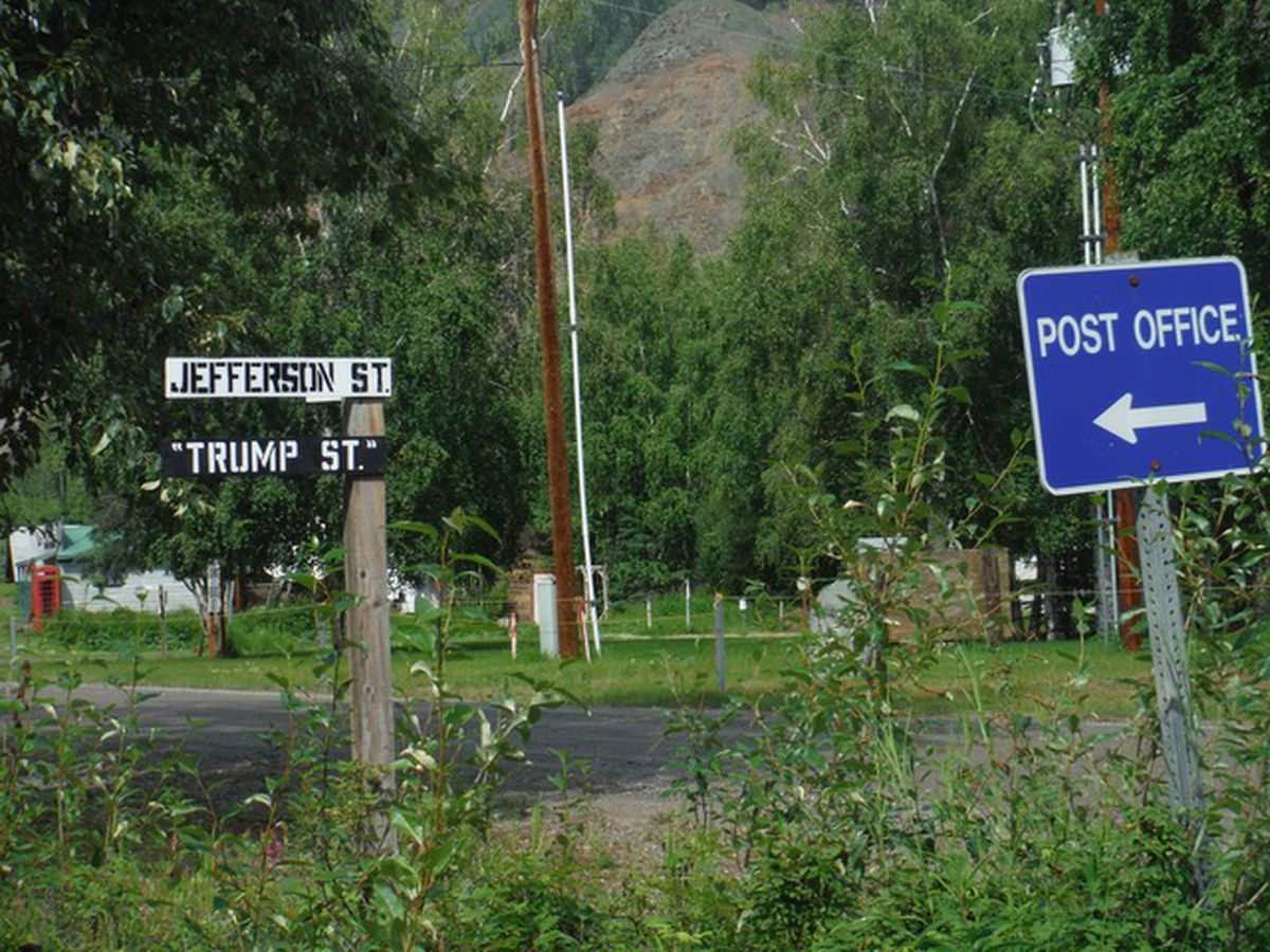 Signs in Eagle, Alaska, 2020. (Photo by Sonja Sager)