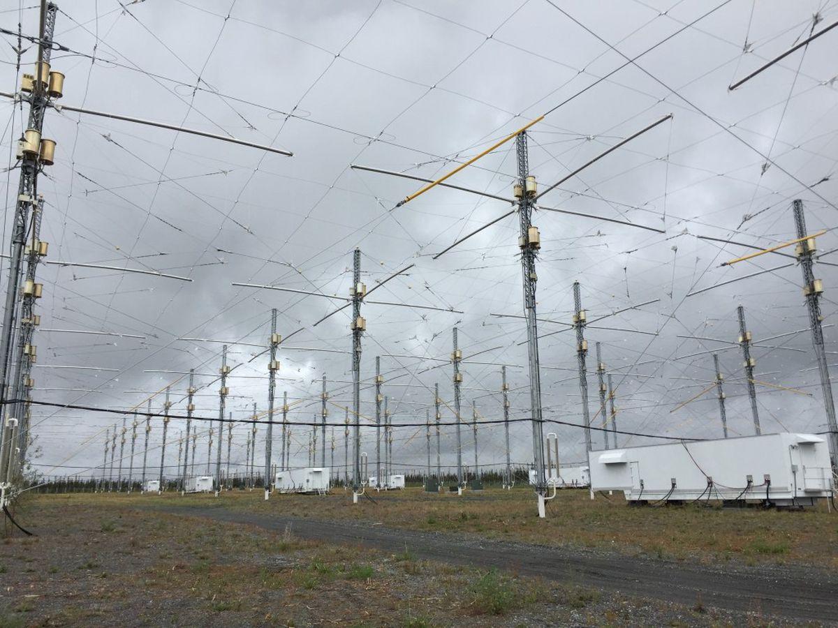 Undated UAF handout photo of HAARP facility nearGakona in Interior Alaska.