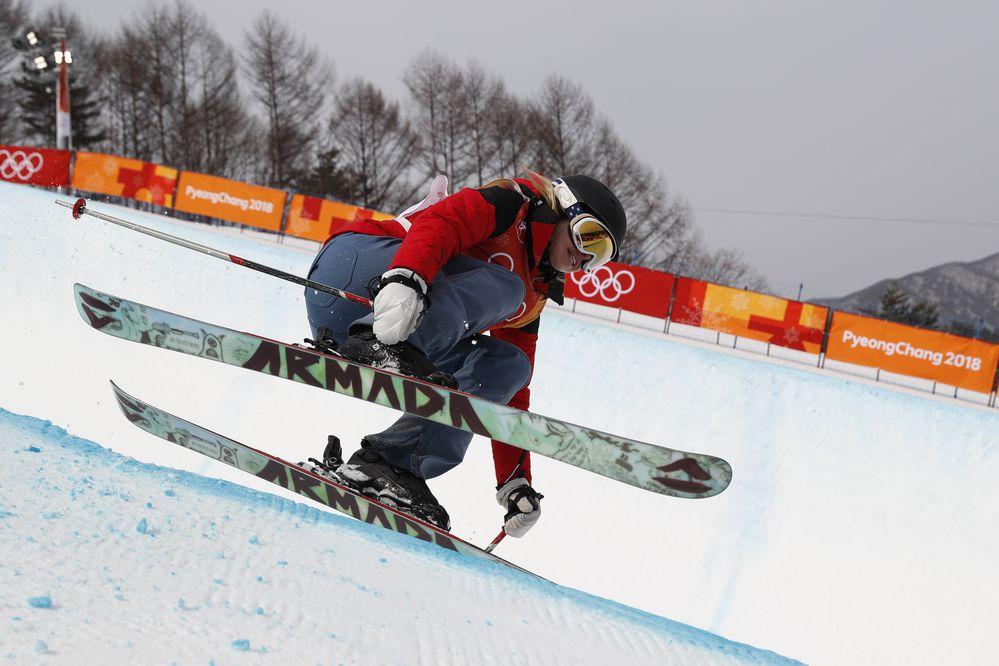 Freestyle Skiing - Pyeongchang 2018 Winter Olympics - Women's Ski Halfpipe Qualifications - Phoenix Snow Park - Pyeongchang, South Korea - February 19, 2018 - Elizabeth Marian Swaney of Hungary competes. REUTERS/Issei Kato