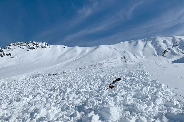 An avalanche in the Hoodoo Mountains March 30, 2019 buried two of the Hale brothers. Both were able to get out on their own. (Photo provided by Joshua Hale)