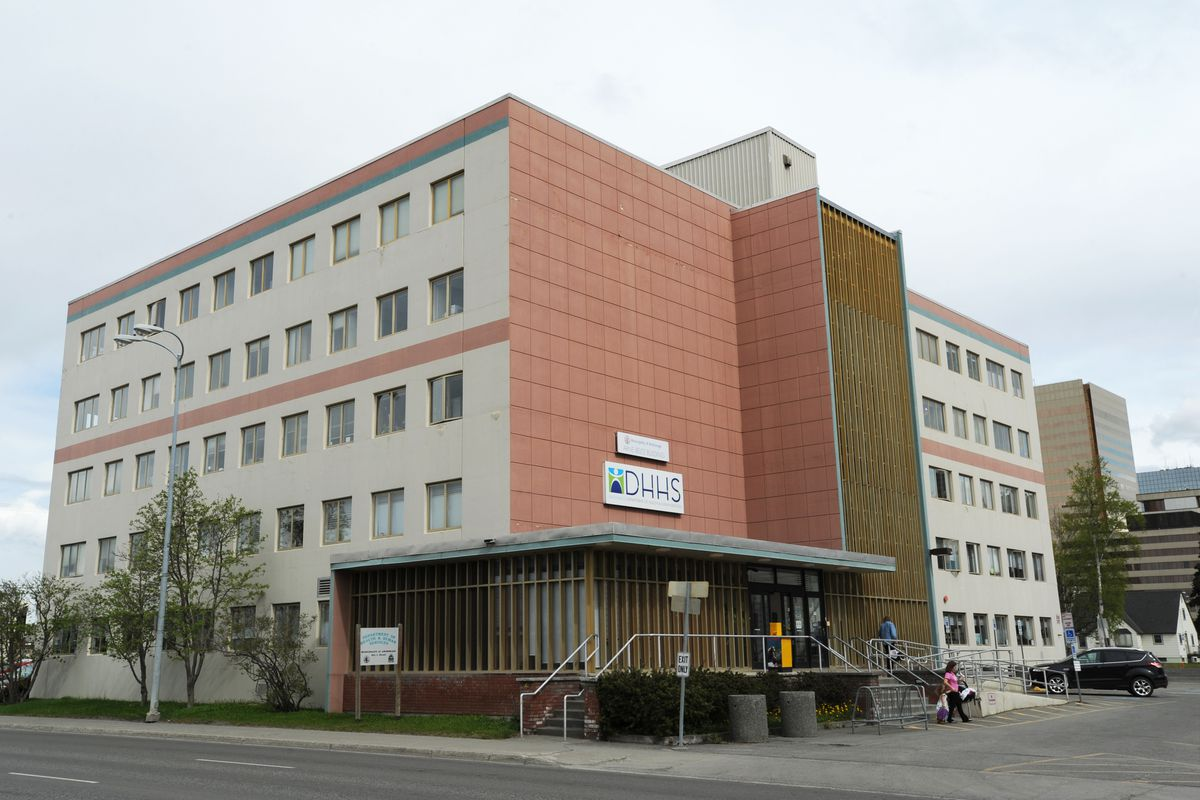 The Anchorage Department of Health and Human Services building at 825 L Street. (Bill Roth / ADN file)