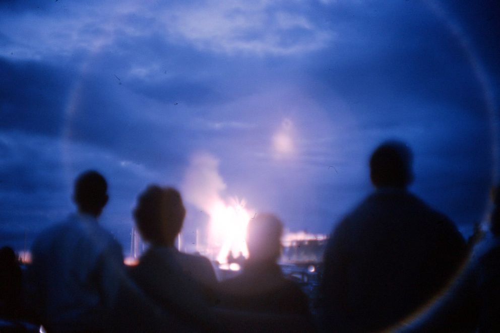 Fireworks at the Billiken Drive-in Theater. (Photo by Ed Sharp)