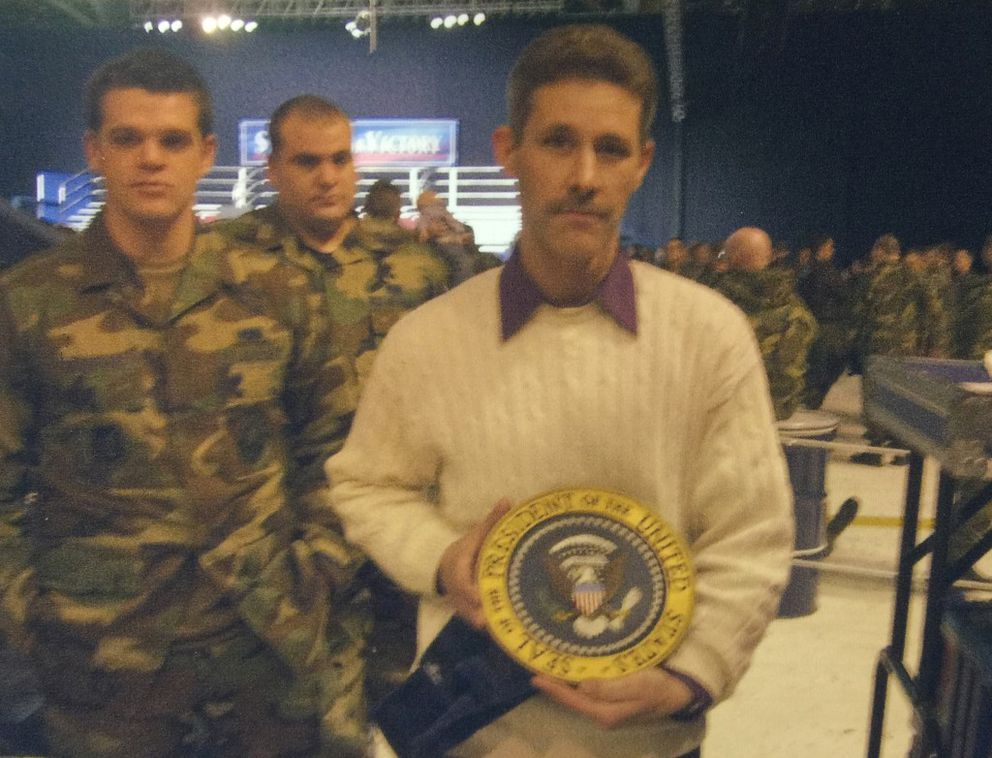William Schmaus worked during the presidential visit of George W. Bush at JBER in 2005. (Photo courtesy of the family)