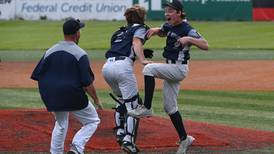 A pitching gem and a solo homer propel Eagle River to its first state baseball championship