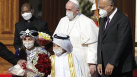 Pope begins historic visit to Iraq, urges Muslim majority to embrace nation's Christians
