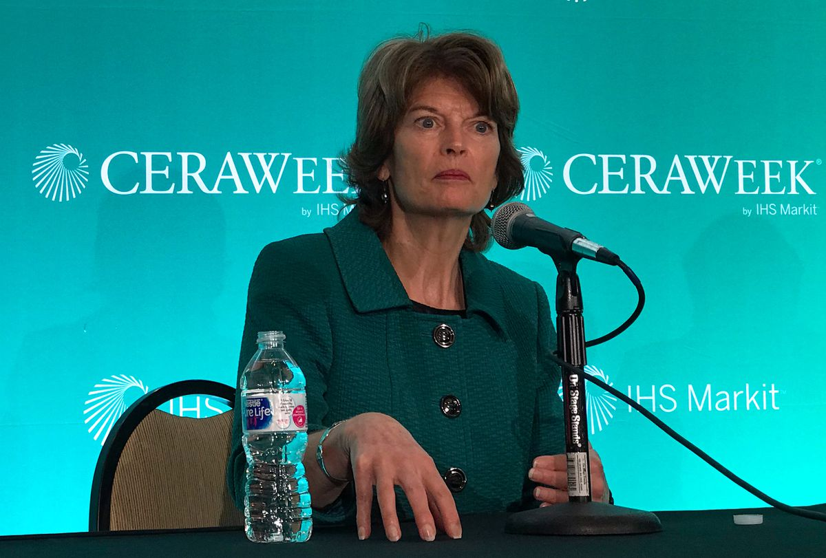 Alaska Sen. Lisa Murkowski speaks at the annual CERAWeek energy conference in Houston, Texas, on Friday. REUTERS/Maria Caspani