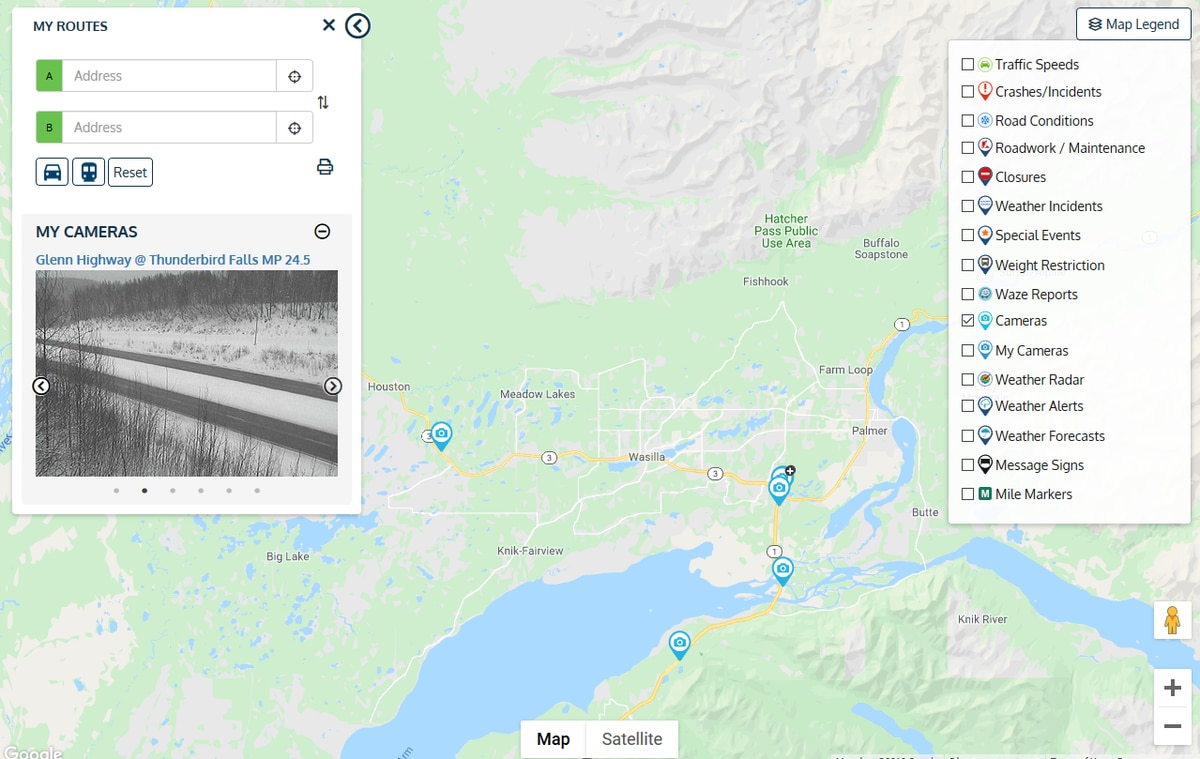 The Department of Transportation launched a new 511 traffic alert system on Friday that includes navigation and crowdsourced traffic alerts. (Image courtesy Alaska DOT)