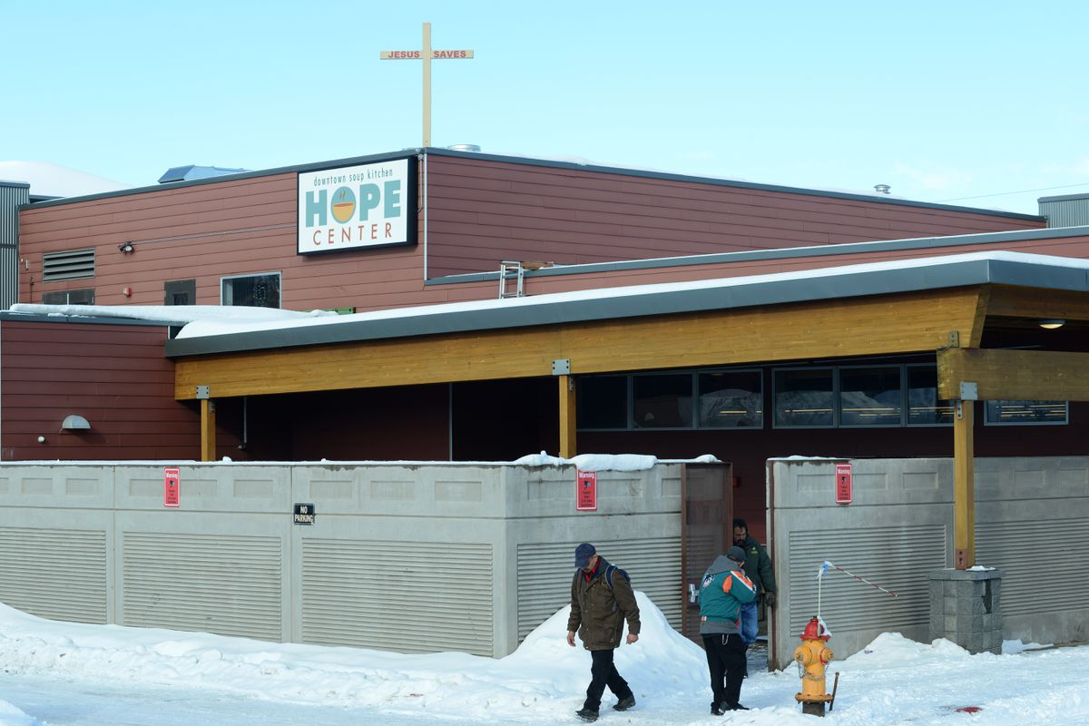 The downtown soup kitchen Hope Center provides a women's shelter, job skills training, meal, laundry and clothing to people in need. (Anne Raup / ADN)