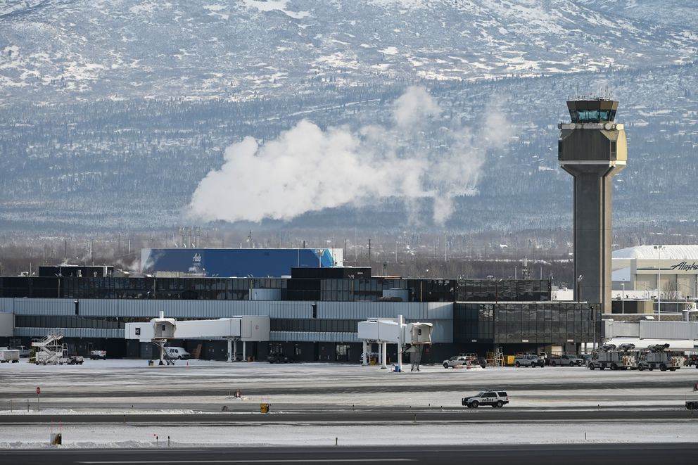 The North Terminal at Ted Stevens Anchorage International Airport on Tuesday, Jan. 28, 2020. (Bill Roth / ADN)