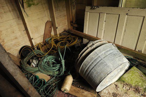 The old sauna building is used for storage. (Bob Hallinen / ADN)