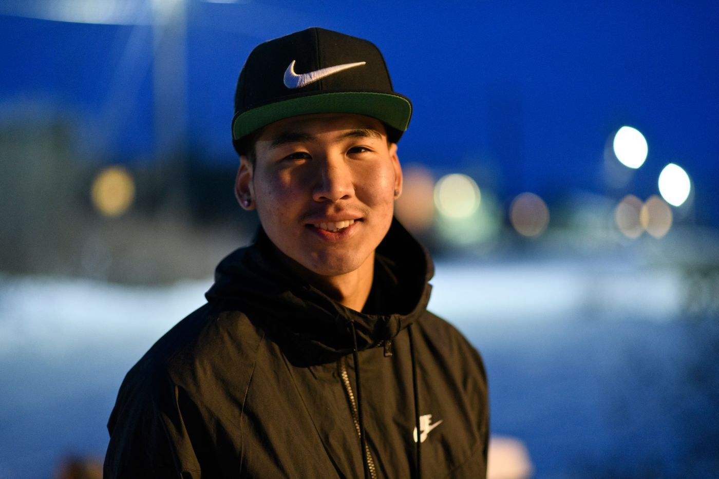 Benji Sampson, 18, photographed in Noorvik on December 2, 2018. (Marc Lester / ADN)