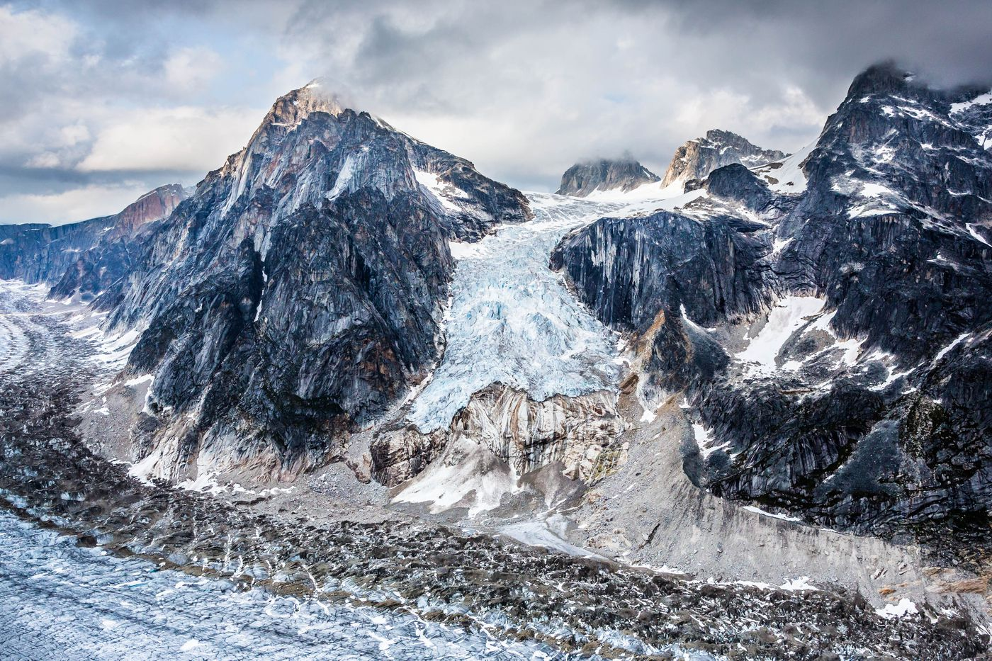 A hanging glacier above the Ruth Glacier, Denali National Park, Alaska on July 19, 2012. Mountain glaciers hold only 1 percent of the world's glacial ice, but they are contributing 30 percent of the water that is increasing sea levels.