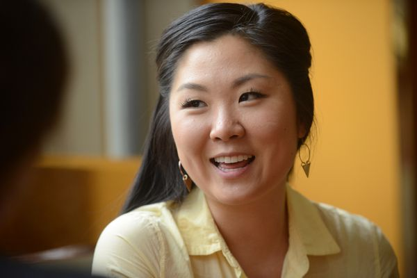 Nina Lee talks about being chosen as the UAA commencement speaker at UAA in Anchorage, Alaska, on Wednesday, May 3, 2017. (Bob Hallinen / Alaska Dispatch News)