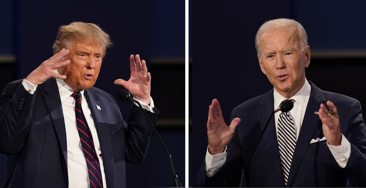President Donald Trump and former Vice President Joe Biden during the first presidential debate Sept. 29 at Case Western University and Cleveland Clinic, in Cleveland, Ohio. (AP Photo/Patrick Semansky, File)