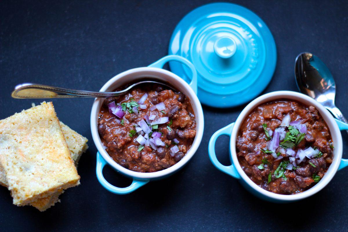 Black bean chili (Maya Wilson / Alaska from Scratch)