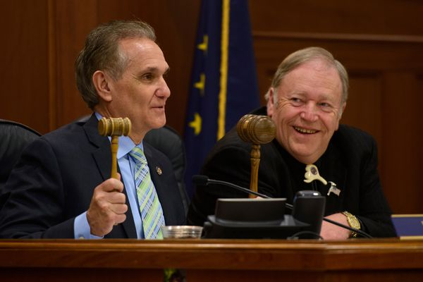 OPINION: Democrats offer a budget that cuts more than Republicans do - and still supports schools, state workers and Medicaid expansion. Pictured: Republican legislative leaders Sen. Kevin Meyer and Rep. Mike Chenault.