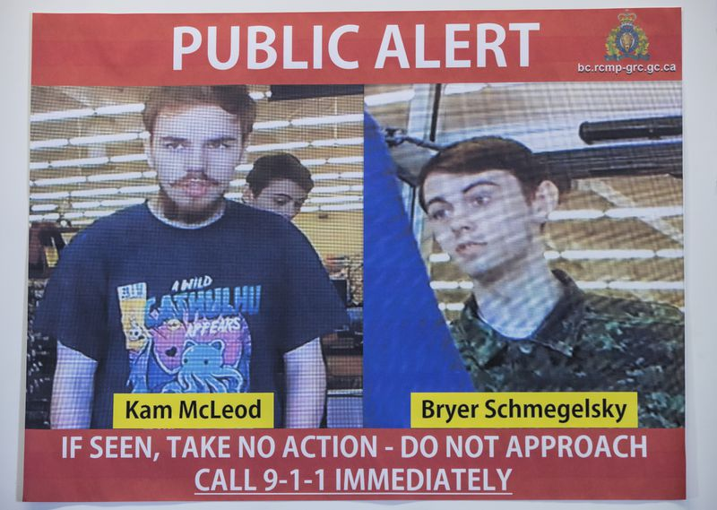 Canadian teen murder suspects committed suicide in wilderness, police say