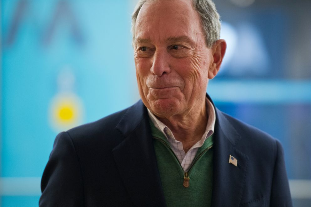 Michael Bloomberg, former mayor of New York City, visited the Anchorage Museum on Nov. 7, 2018. Bloomberg announced Anchorage as a winner in the Bloomberg Philanthropies 2018 Public Art Challenge. (Marc Lester / ADN)