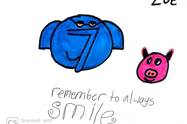 Drawing submitted by Zoe Zawodny, age 10, via