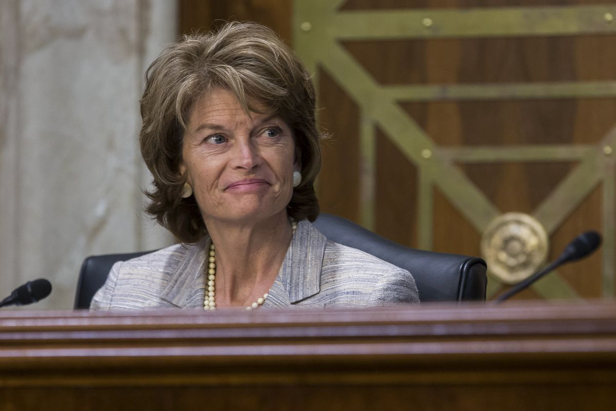 Alaska Sen. Lisa Murkowski at a Senate committee meeting in April 2016  (Zach Gibson / The New York Times)