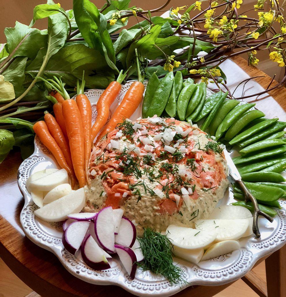 Salmon herb layer dip. (Kim Sunee)