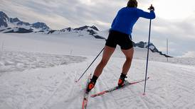 Winter ski training in July
