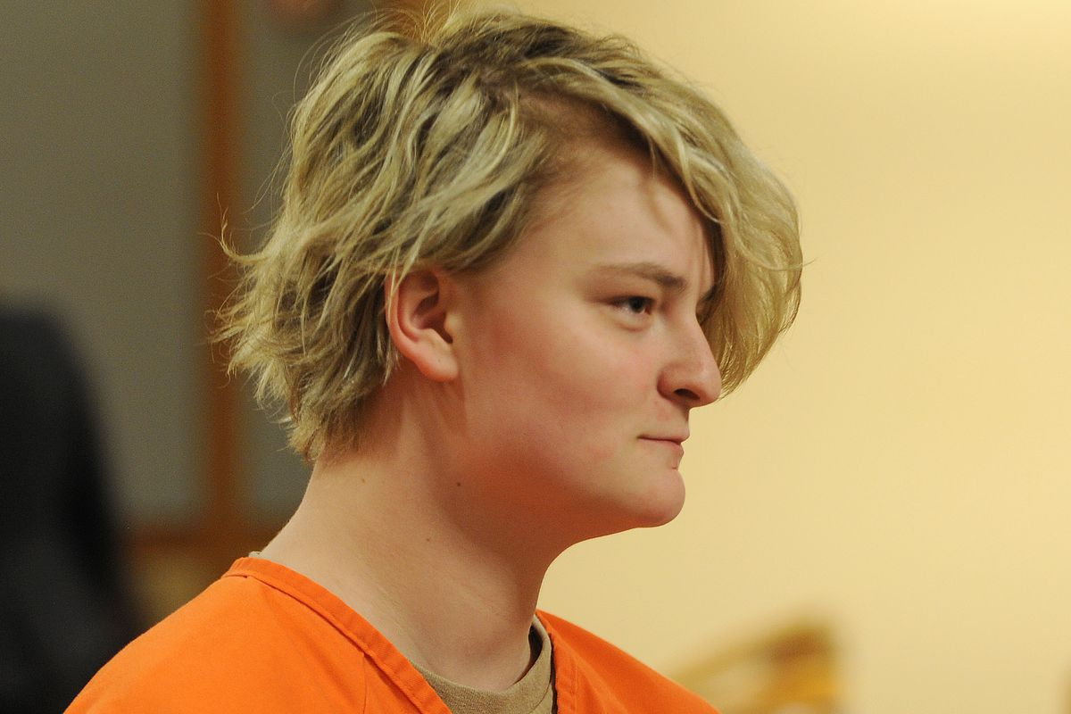 Denali Brehmer, 18, appeared in Anchorage Superior Court for an arraignment hearing in the Nesbett Courthouse on Tuesday, June 18, 2019. (Bill Roth / ADN)