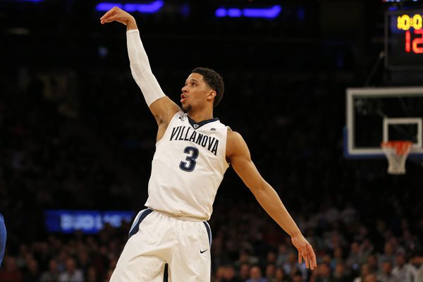 Villanova Wildcats guard Josh Hart watches his shot during the first half of the Big East Conference Tournament final game against the Creighton Bluejays at Madison Square Garden in New York City on March 11, 2017. (Adam Hunger / USA TODAY Sports)