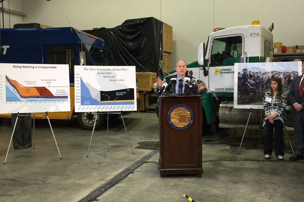 OPINION: The rule of the high school dance applies to Alaska: A minority does the majority of the work. That's why an income tax is unfair to the workers. Pictured: Gov. Bill Walker explains his balanced budget proposal in December 2015, a plan that includes dividend cuts and income taxes.