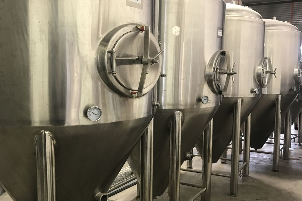 Fermenting tanks at the Baranof Island Brewing Co. (Baranof Island Brewing Co.)