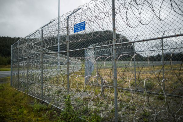 Spring Creek Correctional Center, Seward, Alaska, Aug. 12, 2016. (Loren Holmes / Alaska Dispatch News)