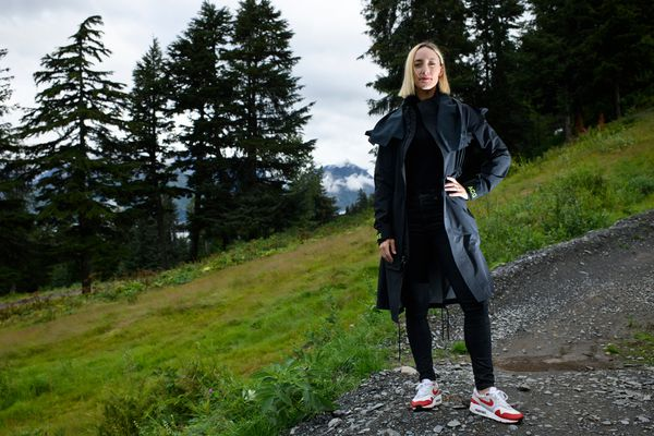 Stef Strack is the founder of Voice in Sport, a platform to provide mentorship and advocate for female athletes. Photographed in Girdwood on August 27, 2020. (Marc Lester / ADN)