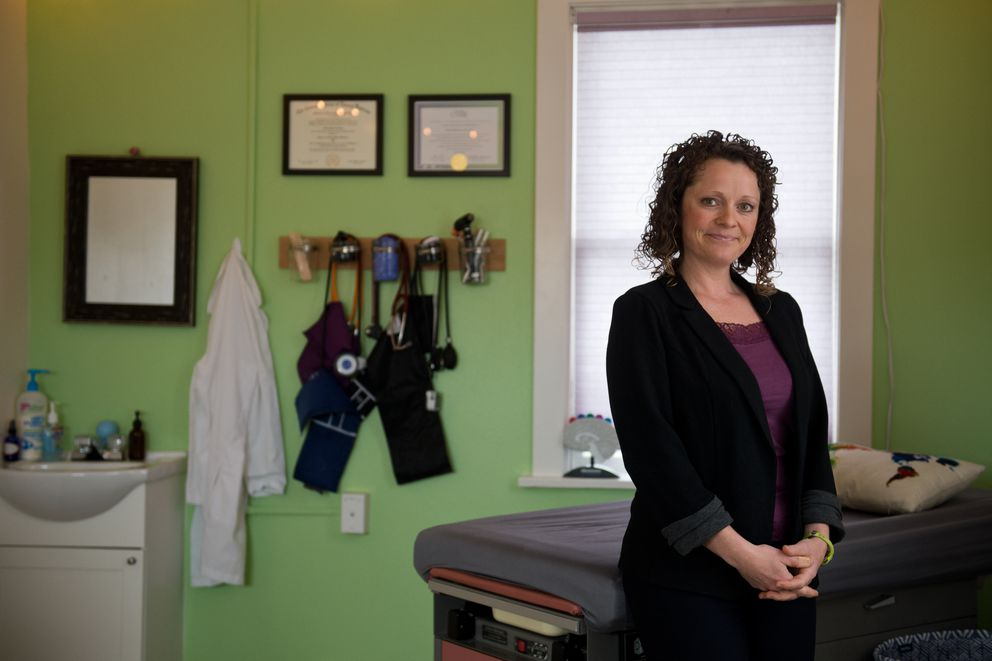 Naturopathic physician Abby Laing works with Thrive Integrative Medicine on Northern Lights Boulevard in Anchorage. Photographed on March 28, 2018. (Marc Lester / ADN)