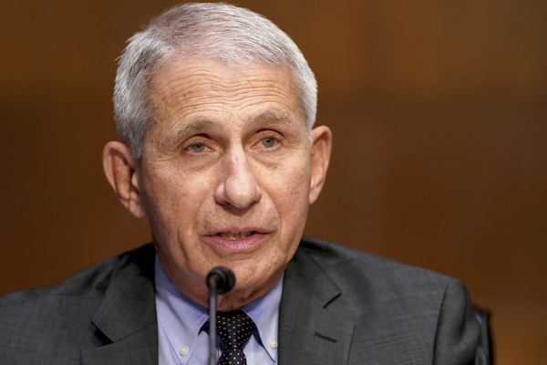 Dr. Anthony Fauci, director of the National Institute of Allergy and Infectious Diseases, speaks during a Senate Health, Education, Labor and Pensions Committee hearing to examine an update from Federal officials on efforts to combat COVID-19 on Tuesday, May 11, 2021, on Capitol Hill, in Washington. (Greg Nash/Pool via AP)