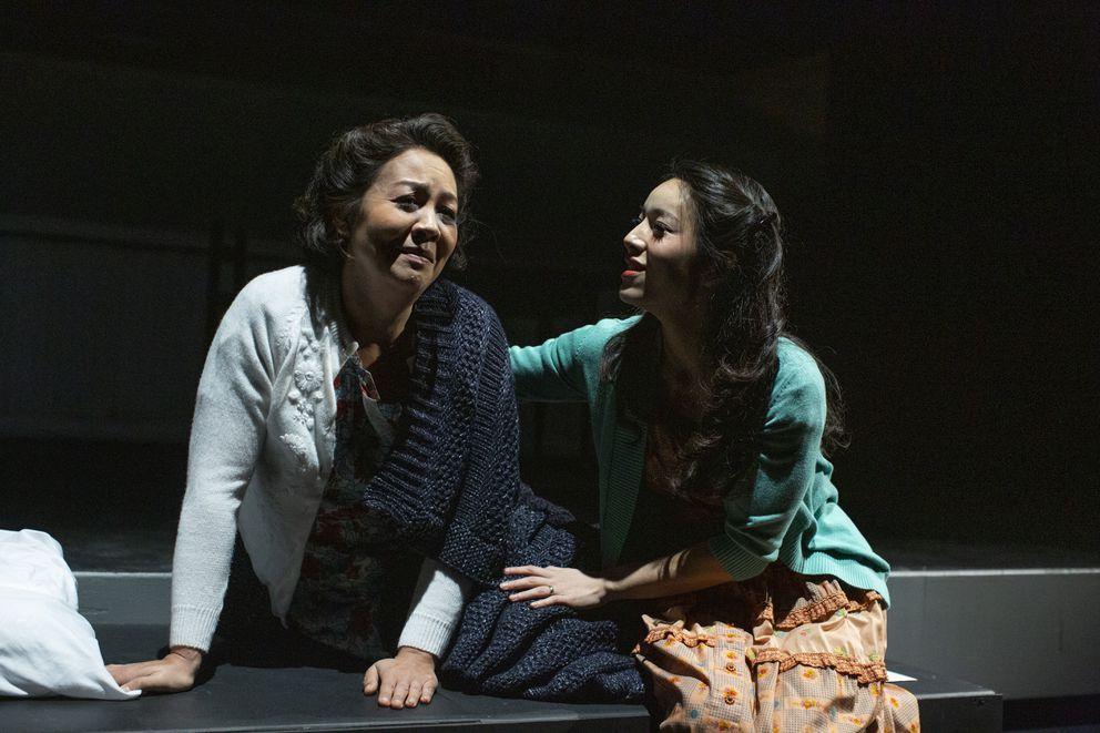 Nina Yoshida Nelsen (Mama, Hiroko Kobayashi) and Yeonji Lee (Setsuko Kobayashi) in 'An American Dream '