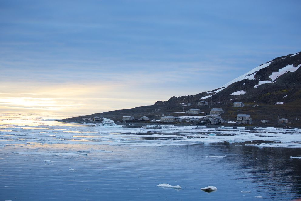 Cape Tegetthoff, in Franz Josef Land, an archipelago of 192 islands. (Mark Chilvers/for The Washington Post)