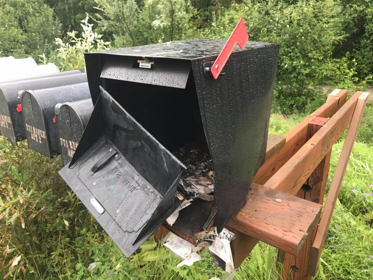 What was left of Justin Johnson's mailbox on Monday, July 24, 2017. (Justin Johnson photo)