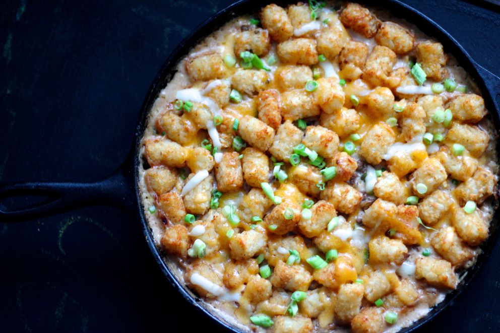 Tater tot hot dish. (Maya Wilson/Alaska From Scratch)