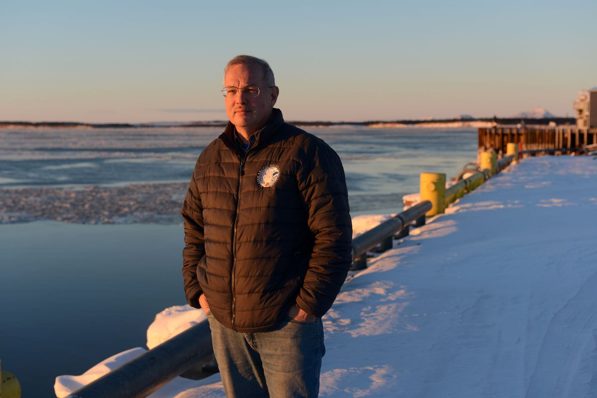 New Speaker of the House Bryce Edgmon hails from Dillingham, which sits along Nushagak Bay in Southwestern Alaska. He was photographed at sunrise at the city dock Tuesday. (Erik Hill / Alaska Dispatch News)
