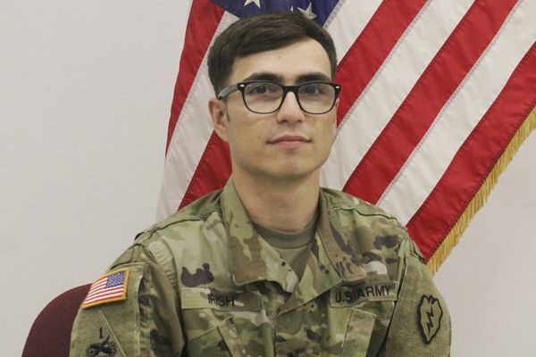 This undated photo released by the U.S. Army shows Sgt. Nathaneil G. Irish. The Defense Department announced Wednesday, Oct. 30, 2019, that Irish, a soldier from Billings, Montana, has died as a result of a non-combat related incident in Iraq. (U.S. Army via AP)
