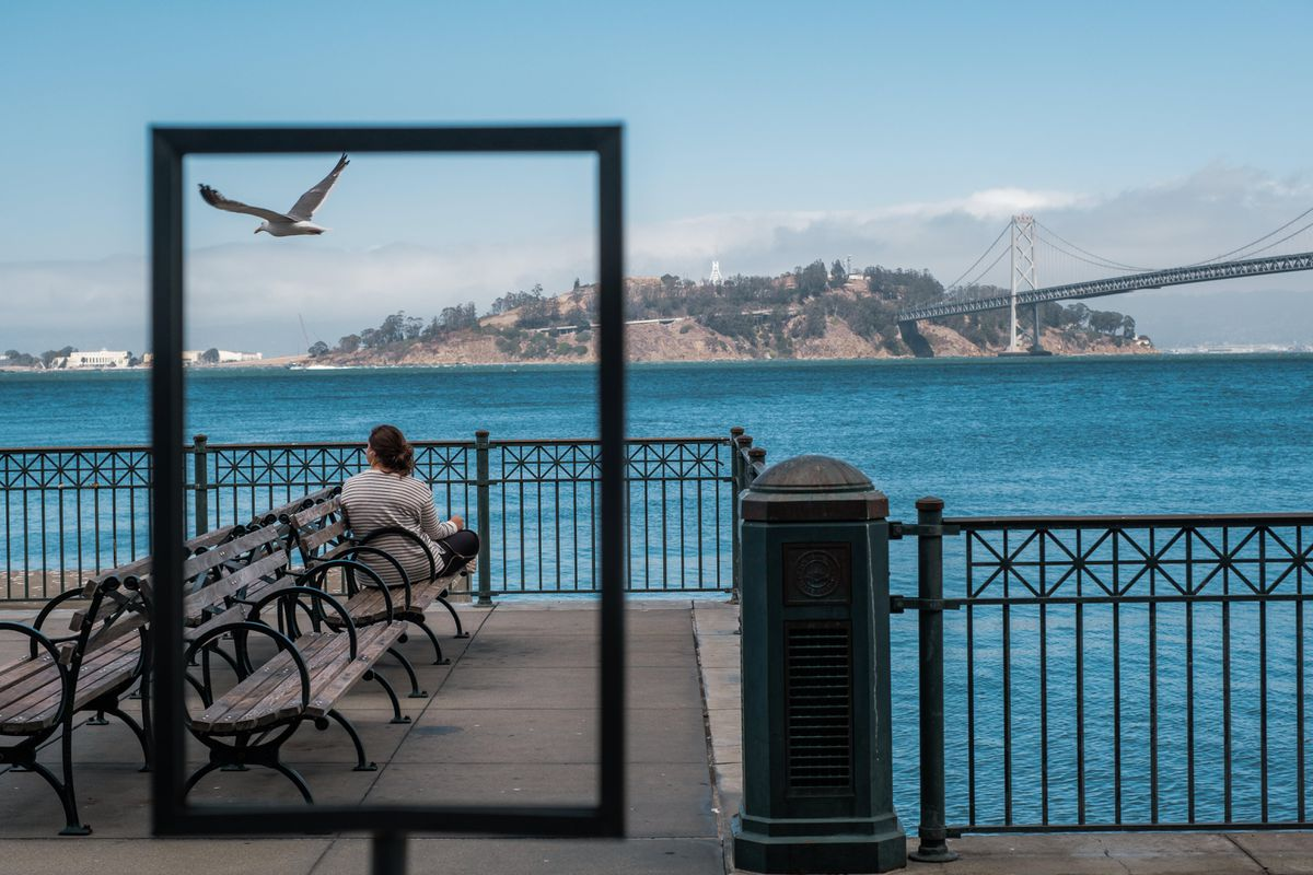 he waterfront in San Francisco is eerily empty on an August afternoon. (Photo for The Washington Post by Nick Otto)