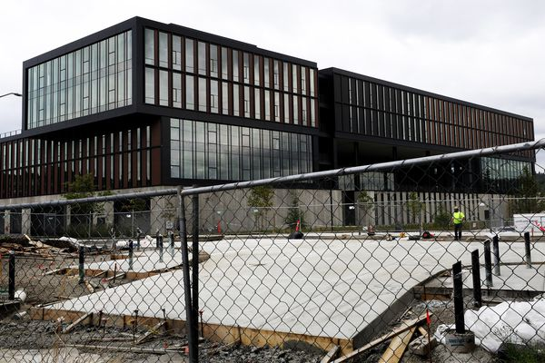 REI is selling its never-used headquarters in the Spring District of Bellevue, Washington, on August 12, 2020. (Alan Berner/Seattle Times/TNS)