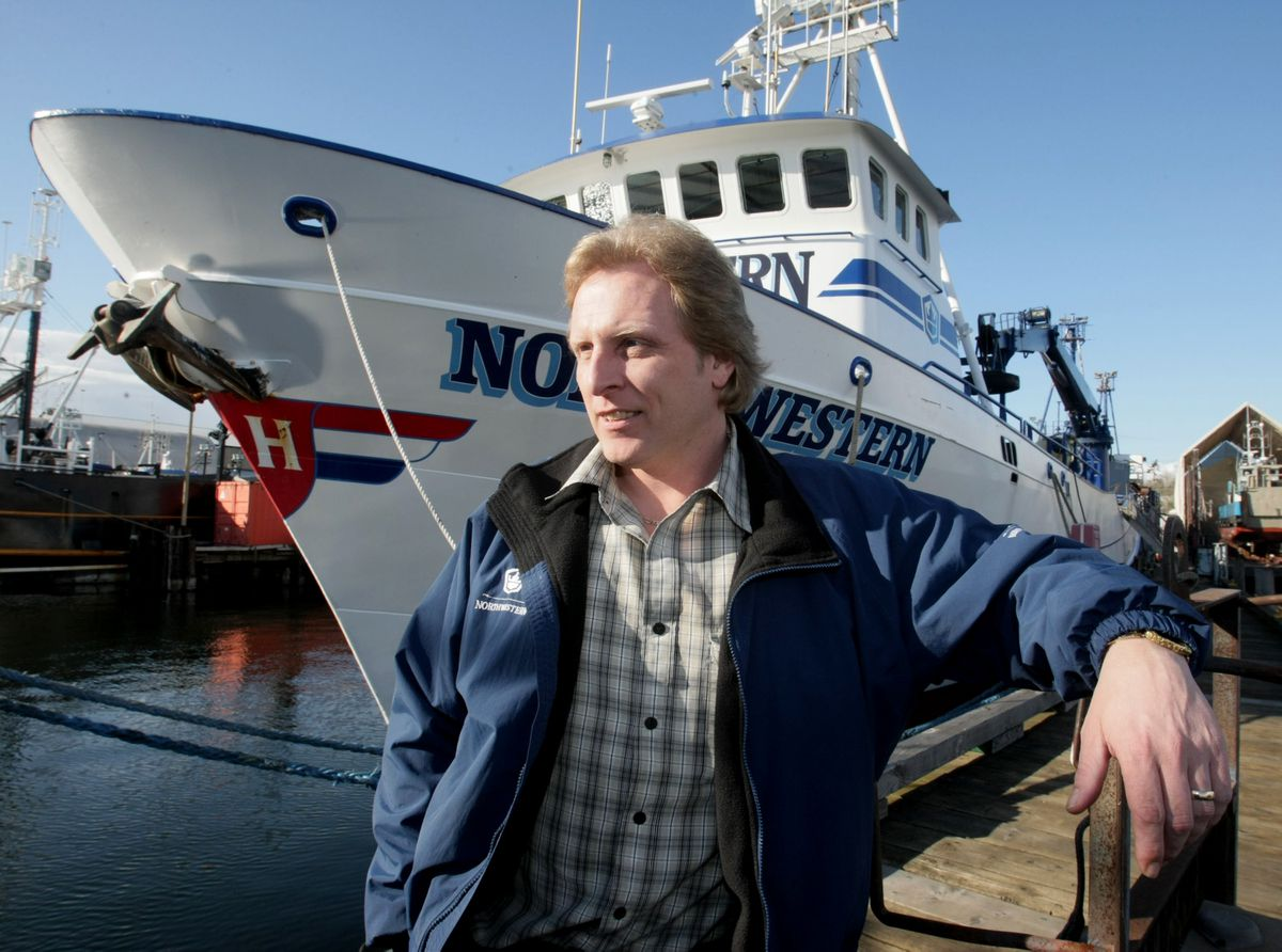 Sig Hansen poses for portrait with his boat the Northwestern docked at Ballard in Seattle, Washington, March 3, 2010. (Jim Bates/Seattle Times/MCT)
