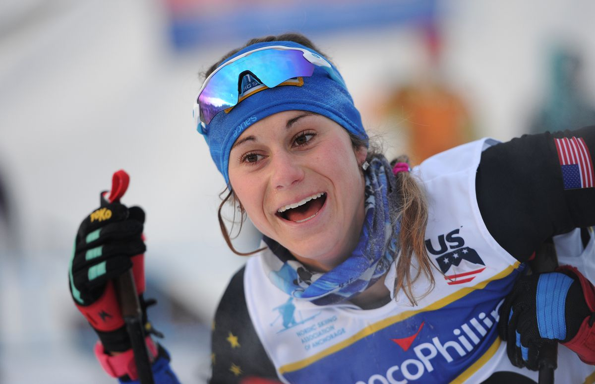Jessica Yeaton, shown here at the 2018 U.S. Cross Country Skiing Championships at Kincaid Park, won the 50-kilometer American Birkebeiner on Saturday. (Bill Roth / ADN archives)