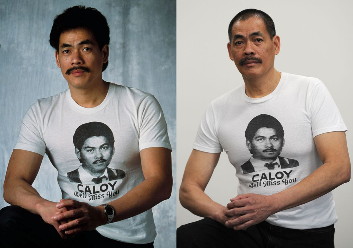 Jerry Medina in 2001, left, and in 2018 as he seeks justice for the killing of his older brother, Carlos Medina, who was bludgeoned on Kodiak Island in 1993. (Bill Roth / ADN)